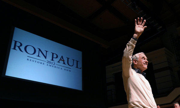 Rep. Ron Paul (R-Texas), pictured earlier this year, delivered his final address to the House floor Wednesday.