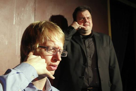 Joel Wiersema and Chris Bragg of the sketch comedy group (Long Pause).