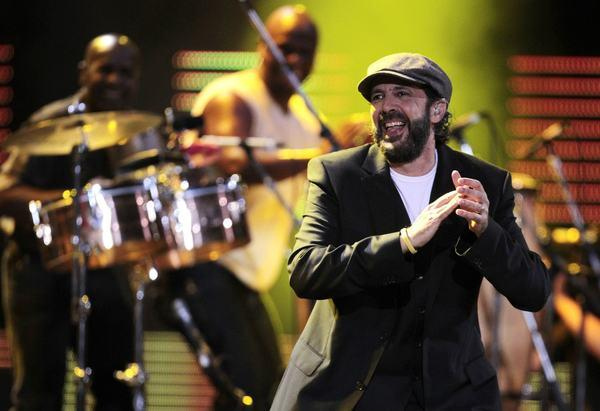 Dominican Republic singer Juan Luis Guerra, shown performing at the 53rd annual Vina del Mar International Song Festival in Vina del Mar, Chile, earlier this year, tops the list of the 2012 Latin Grammy nominees with six nominations, including song of the year and record of the year.
