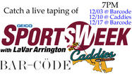 Come watch SportsWeek LIVE!