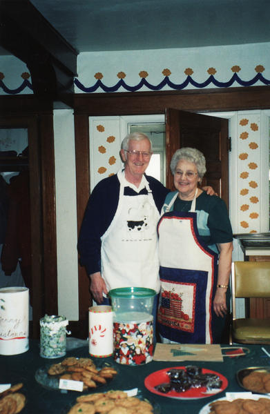 J.R. and LaNora Love prepare for the old-fashioned cookie walk at the upcoming Holiday Bazaar and Soup Luncheon at the Harbor Springs United Methodist Church.