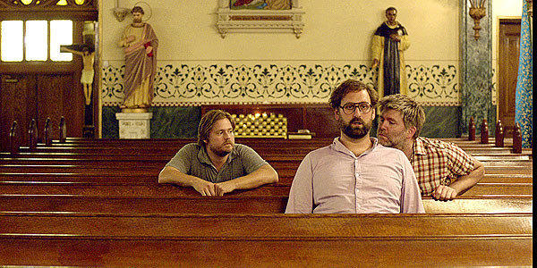"Tim Heidecker, left, Eric Wareham and James Murphy in ""The Comedy."""