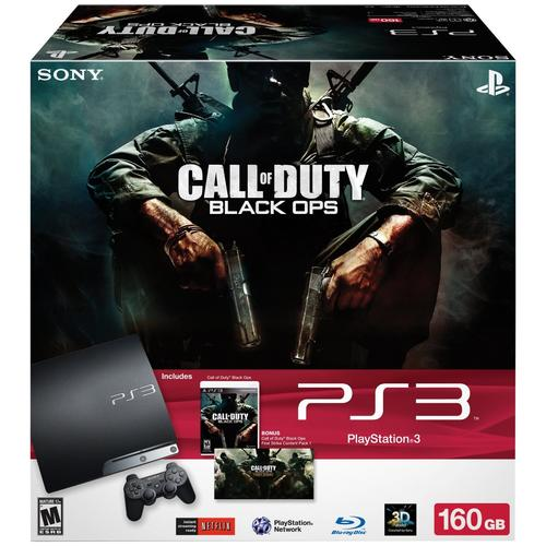 "160GB PS3 ""Call of Duty Black Ops"" bundle w/ controller, game - $199"