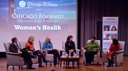 Bruce Dold, Julie Deardorff, Dr. Colleen Fitzgerald, Dr. Lauren Streicher, Donna Thompson and Dr. Annabelle Volgman at Chicago Forward: Women's Health