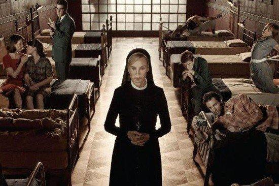 Jessica Lange, center, plays Sister Jude, a nun with a troubled past, in the current season of 'American Horror Story.'
