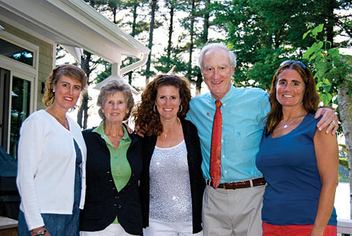 The Lundy family, from left, Kerry Burton, Cathy Lundy, Dianne Heeter, Chip Lundy and Laurie Lundy.