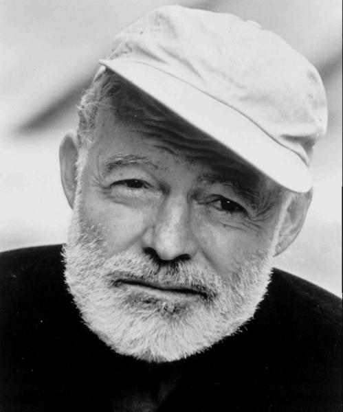Author Earnest Hemingway.
