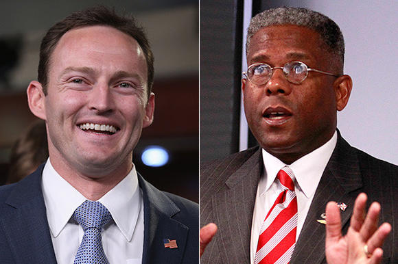 Democrat Patrick Murphy, left; Allen West