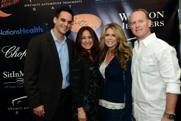 Will Manso, sportscaster with WPLG Channel 10, his wife Elizabeth; and Rachel and Jeff Ireland, GM of the Miami Dolphins