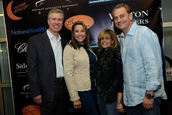 Cliff Viner, owner of the Florida Panthers, Eda Knopf and Tracey and Ed Dikes, owners of Weston Jewelers
