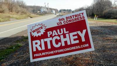 Berlin resident Paul Ritchey, who ran a write-in campaign in the 9th Congressional District, received 215 votes in Somerset County.