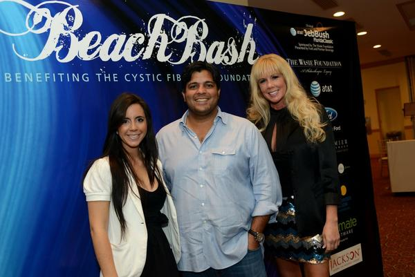 BeachBash Co-Chairs Sam DeBianchi, Dev Motwani and Jen Klaassens