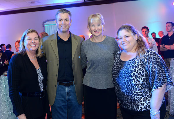 Chris Landshut, Executive Director of Cystic Fibrosis Foundation; Joe Hess, Chair of AT&T JEB BUSH Florida Classic; Gale Butler, Vice President, Corporate Affairs at AutoNation; and Tracy Schuldiner, Director of Events & Corporate Relations at 2-1-1 Broward