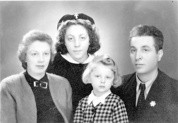 The Comforty family minus one, 1943.