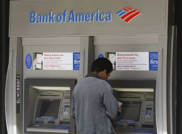 Bank of America is testing higher checking account fees in three states, a survey by a consumer group notes.