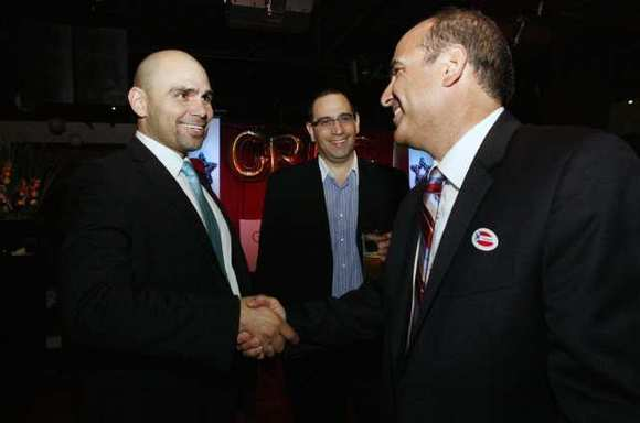 State Assembly candidate Greg Krikorian on election night, which took place at Noypitz restaurant in Glendale on Tuesday, November 6, 2012.