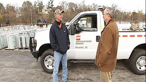 Appalachian Power workers return home after helping restore power in the northeast