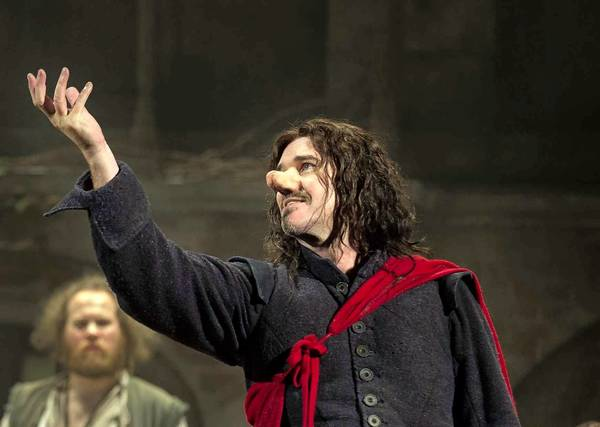 "Douglas Hodge in the title role in ""Cyrano de Bergerac"" at the American Airlines Theatre in New York."