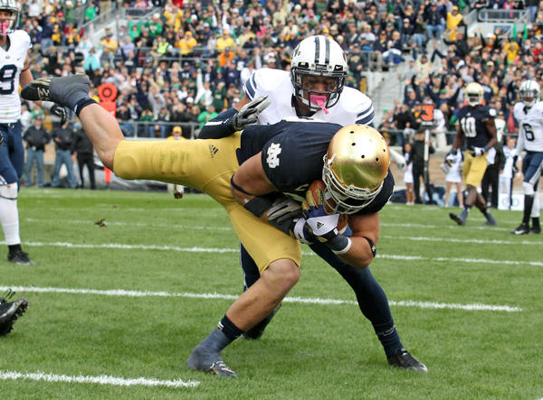 Notre Dame Tyler Eifert may have improved his draft status to first-round level.