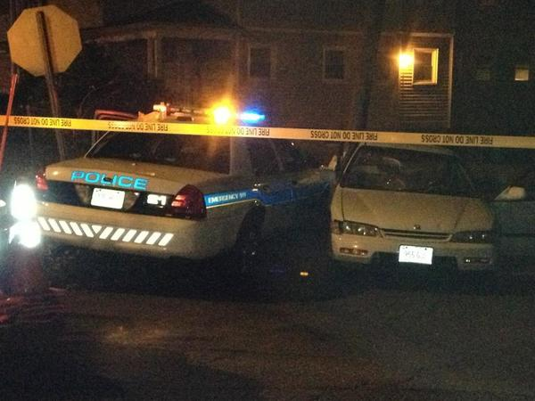 A police cruiser was involved in a two-car crash on Colebrook Street in Hartford Thursday night.