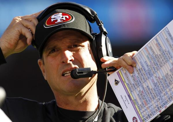 The 49ers' Jim Harbaugh belongs to a distinguished list of coaching trees.