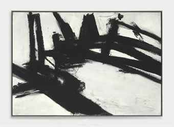 Franz Kline's untitled black and white canvas from 1957 shattered the artist's record sales price in a Christie's auction Wednesday. The $40.4-million top bid more than quadrupled the previous record, set just Tuesday.
