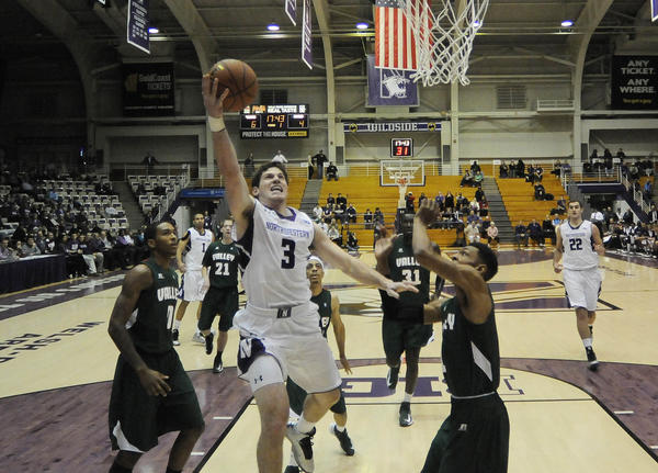 Northwestern guard Dave Sobolewski splits the Mississippi Valley State defense.