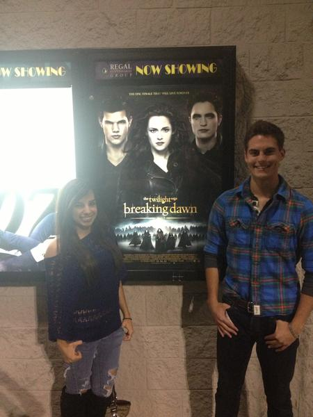 "Movie fans bought their tickets online early to watch ""Breaking Dawn - Part 2"", the last installment of The ""Twilight"" franchise, at Regal Oakwood Stadium 18 in Hollywood."