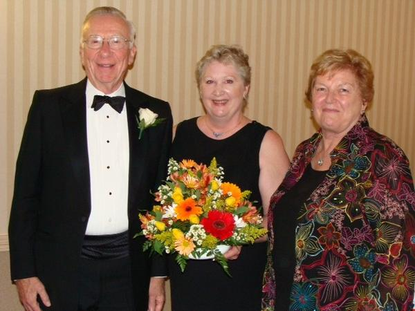 From left: H. David Crombie, Wanda Jacques-Gill, and Margaret Crombie at the Connecticut Medicine Gala in May 2011.