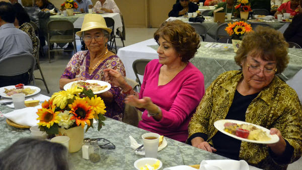 A Thanksgiving lunch was given to seniors Thursday at the Calexico Community Center as part of the senior health and wellness program that was sponsored by a grant from the Heffernan Memorial Healthcare District.