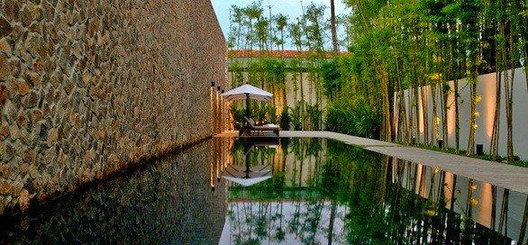 The lap pool at Amansara near Cambodia's Angkor Wat temples. The resort made Fodor's 2012 list of the best 100 hotels in the world.