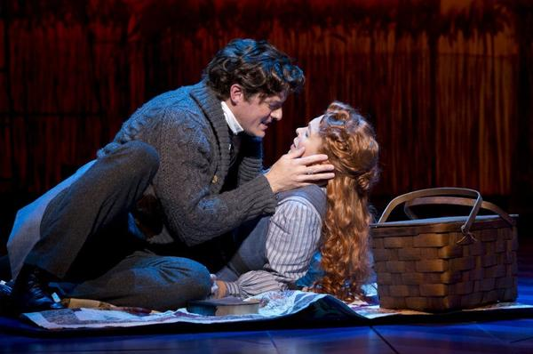 "Edward Watts and Carolee Carmello in a romantic moment in ""Scandalous."" Carmello stars as evangelist Aimee Semple McPherson in the biographical musical co-written by Kathie Lee Gifford."