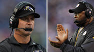 Imparting knowledge about strategy, needling referees and providing timely jokes or a touch of sternness, Ravens coach John Harbaugh has quickly built a reputation for his intensity and winning.