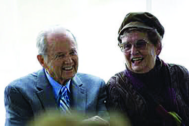 Former Governor William and Helen Milliken during a 2011 public event.
