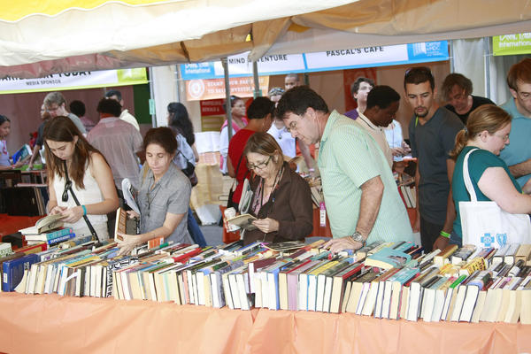 A scene from last year's Miami Book Fair International Street Festival at Miami Dade College Wolfson Campus. The street festival returns Friday, Nov. 16 through Sunday, Nov. 18.