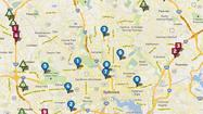 Top Baltimore area speed camera ticket locations from July 1, 2011 to June 30, 2012