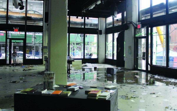 Brooklyn's powerHouse Arena after Hurricane Sandy