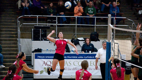 Johannesburg-Lewiston senior Abby Schlicher, the 2012 Herald Times Area Volleyball Player of the Year.