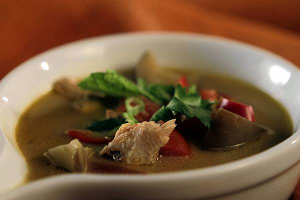 Use turkey leftovers for a Thai-style turkey soup with tamarind, lemongrass and fragrant herbs.
