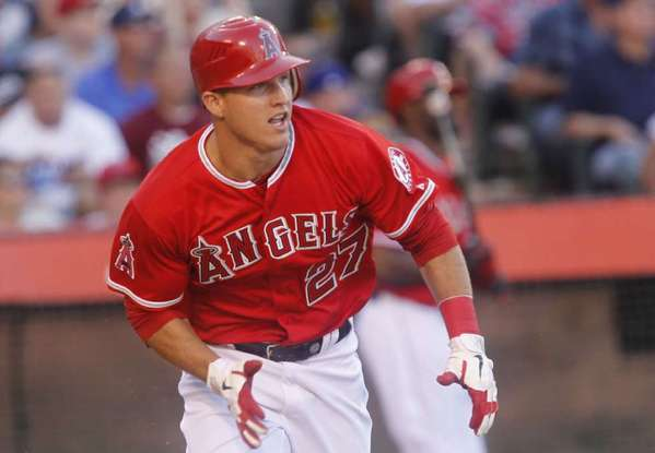Mike Trout finished second in AL MVP award voting last season.