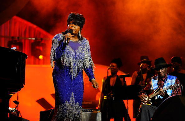 Singer Koko Taylor and guitarists Dave Honeyboy Edwards during the Pre-Telecast for the 50th Annual GRAMMY Awards at the Staples Center on February 10, 2008 in Los Angeles, California.