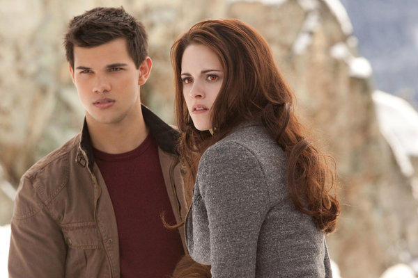 "Taylor Lautner, left, and Kristen Stewart star in ""The Twilight Saga: Breaking Dawn - Part 2."""