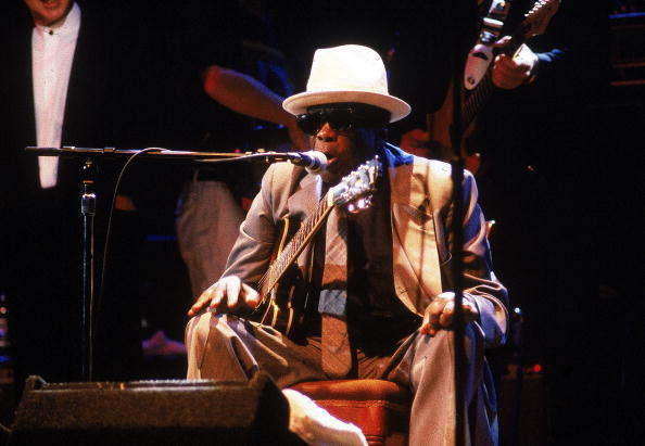 Blues singer/guitarist John Lee Hooker in 1994