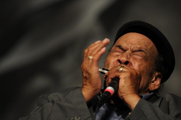 James Cotton performs on stage during New Orleans Jazz & Heritage Festival on May 3, 2012 in New Orleans, United States.