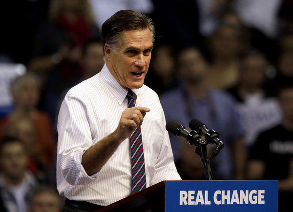 Not enough voters, including many who wrote to The Times this week, bought the slogan on Mitt Romney's podium.