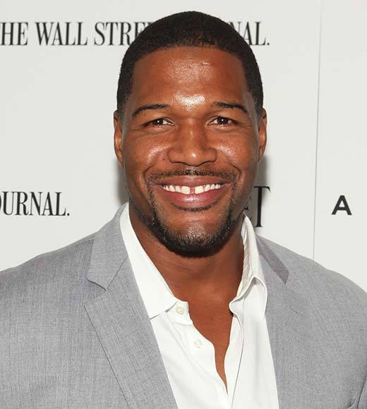 Jeff Probst<br>     Katie Couric<br>     Michael Strahan (pictured)<br>     Ricki Lake<br>     Steve Harvey