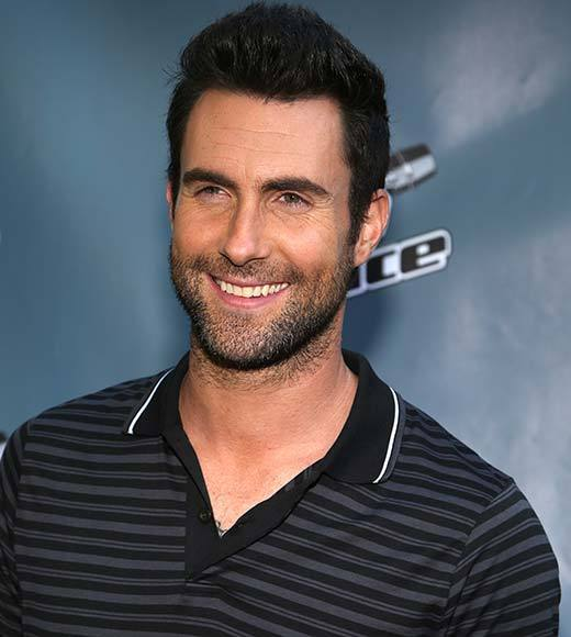 Adam Levine (pictured)<br>     Britney Spears<br>     Christina Aguilera<br>     Demi Lovato<br>     Jennifer Lopez