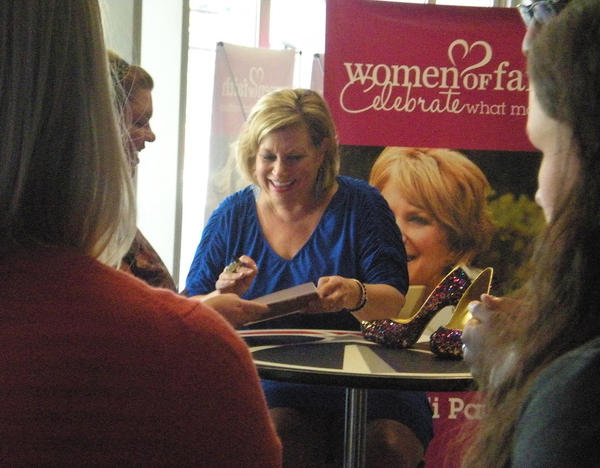 Sandi Patty greets fans at a Women of Faith Conference in Washington, D.C., on Aug. 18.