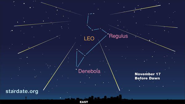 The Leonid meteor shower will peak tonight.