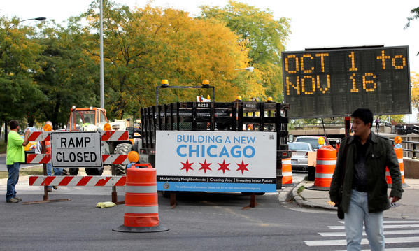 The Chicago Department of Transportation begins the rehabilitation of the viaduct connecting Michigan Avenue to northbound Lake Shore Drive at Oak Street in October.
